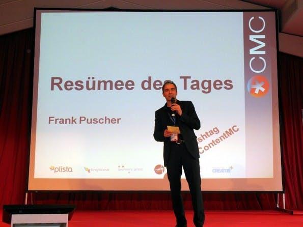 Der Moderator der Content-Marketing-Conference 2014. (Foto: Ulf-Hendrik Schrader)