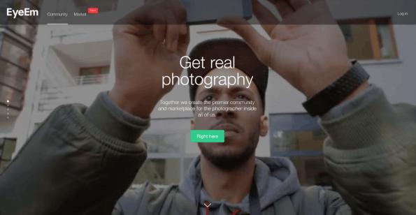 Fotos zu Geld machen: Die Foto-App EyeEm hilft Nutzern beim Vertrieb ihrer Bilder. (Screenshot: EyeEm)