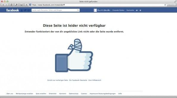 Ich habe meinen Facebook-Account gelöscht. Wirklich. (Screenshot: Facebook)