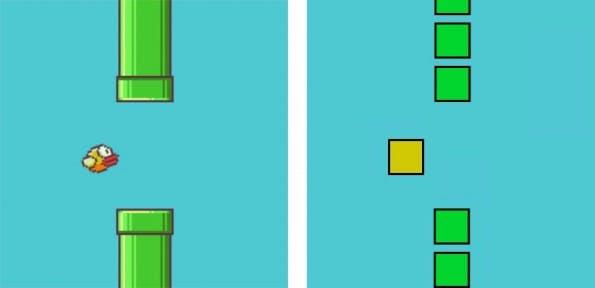 Original vs. Fälschung: Flappy Bird als Browser-Game. (Bild: Thomas Palef)