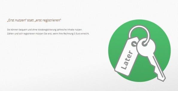 Geringe Einstiegshürde: LaterPay soll es Nutzern so einfach wie möglich machen. (Screenshot: LaterPay)