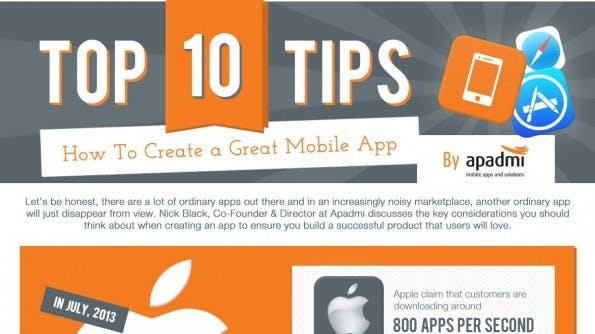 10 Tipps, um erfolgreiche Apps zu entwickeln. (Infografik: Apadmi)