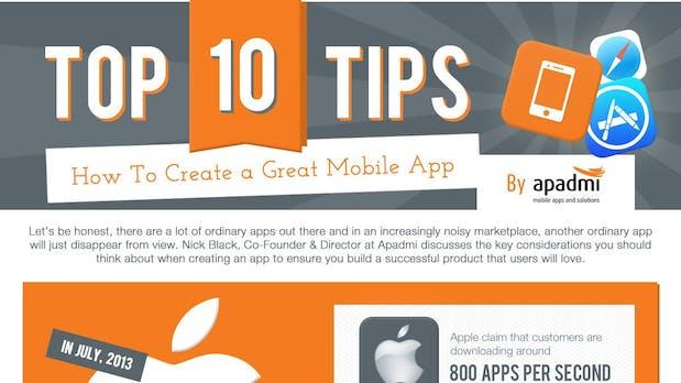 10 Tipps, um wirklich tolle Apps zu entwickeln [Infografik]