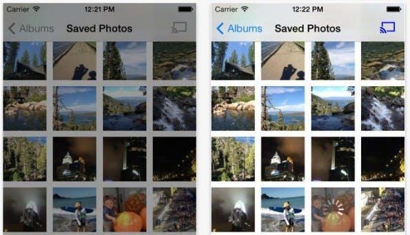 Chromecast: Photocast zeigt die Bilder auf eurem iPhone auf dem Fernseher an. (Screenshot: iTunes)