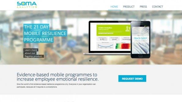 SOMA Analytics: Die App misst das Stresslevel von Mitarbeitern und soll Firmen zu mehr Produktivität und weniger Kosten verhelfen. (Screenshot: SOMA Analytics)