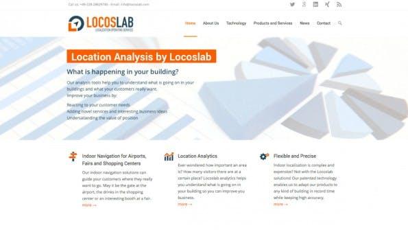Startups auf der CeBIT: LocosLab möchte Endnutzern und Gebäudebetreibern ein System zur zuverlässigen Indoor-Navigation anbieten. (Screenshot: LocosLab)