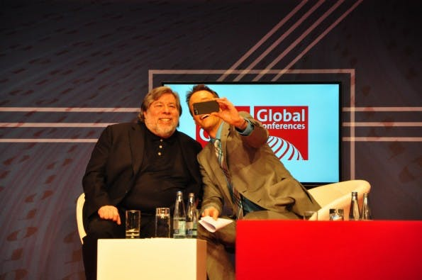 Der wohl prominenteste Gast der CeBIT Global Conferences 2014: Steve Wozniak. Das Highlight 2015 ist der Journalist Glenn Greenwald. (Foto: Johannes Schuba)
