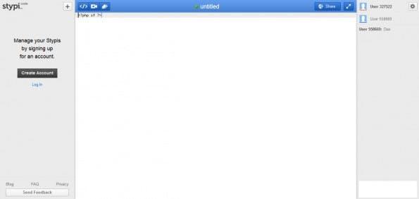 Stypi-Interface. (Screenshot: t3n)