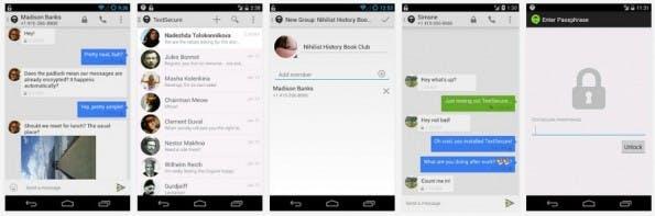 TextSecure: Der Messenger soll eine sichere WhatsApp-Alternative sein. (Screenshot: Google Play-Store)