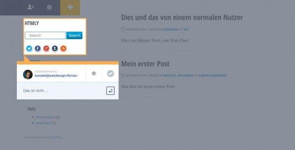 Trackduck im Einsatz. (Screenshot: Test-Blog)