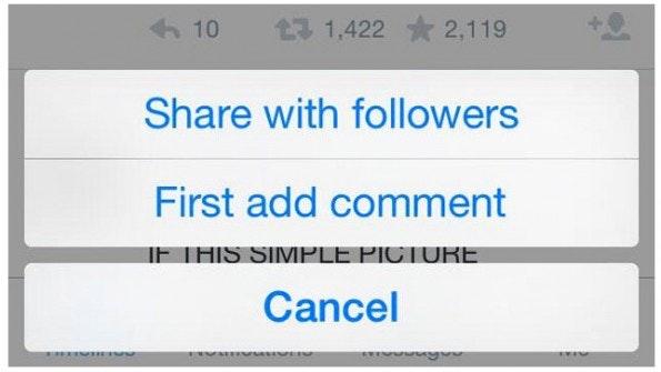 Retweet oder Share? (Screenshot: Endgadet)