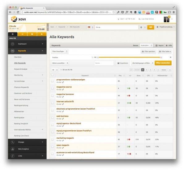 Einige Reports mussten während des Beta-Tests lange laden. (Screenshot: xovi.net)