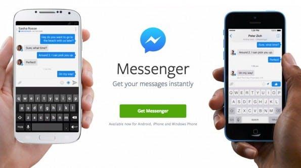 Nachrichten werden mobil künftig nur noch im Facebook-Messenger angezeigt. (Screenshot: Facebook)