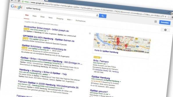 Ein Blick auf die Rankings: Was treibt die Konkurrenz? (Screenshot: google.de)