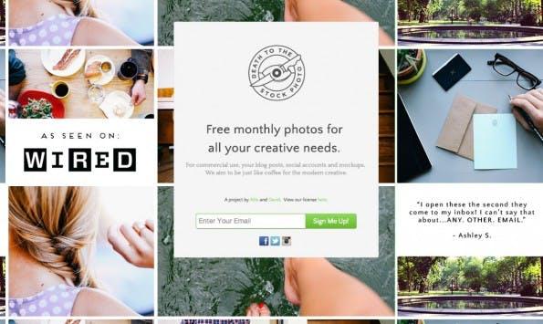 Hochwertige und kostenfreie Bilder – Death to the Stock Photo. (Screenshot: join.deathtothestockphoto.com)