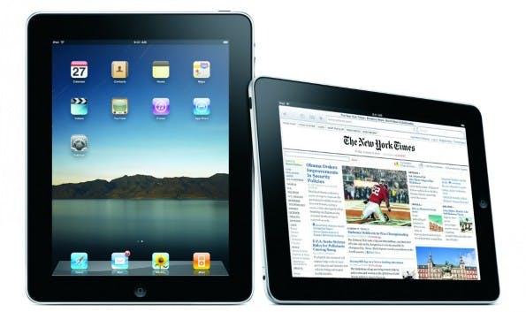 Egal bei welchem Apple-Produkt: Auch beim iPad 2 war es schon 9:41 Uhr auf den Produktbildern. (Quelle: Apple)