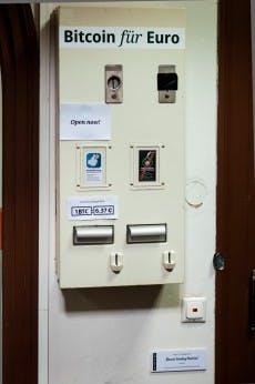 Ein selbstgebauter Bitcoin-Automat als Kunstprojekt. (Bild: Max F. Albrecht)