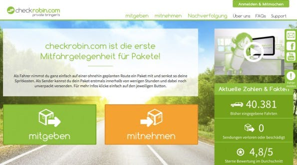 (Screenshot: Checkrobin.com)