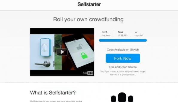 Lockitron hat aus der Not eine Tugend gemacht: Weil Kickstarter ablehnte, wurde ein eigenes Script für Webseiten entwickelt. (Screenshot: t3n)