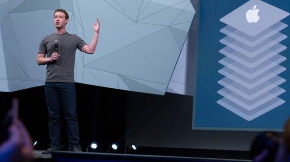 Mark Zuckerberg stellte auf der f8-Entwicklerkonferenz die neuen Login-Features vor. (Foto: Moritz Stückler)