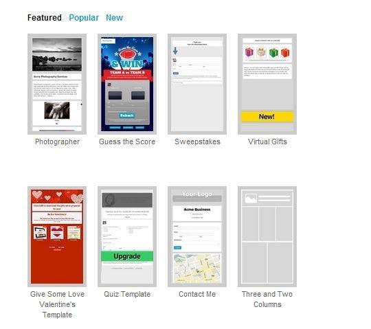 Viele verschiedene Apps lassen sich mit ShortStack einfach in eure Facebook-Seiten integrieren. (Screenshot: ShortStack)