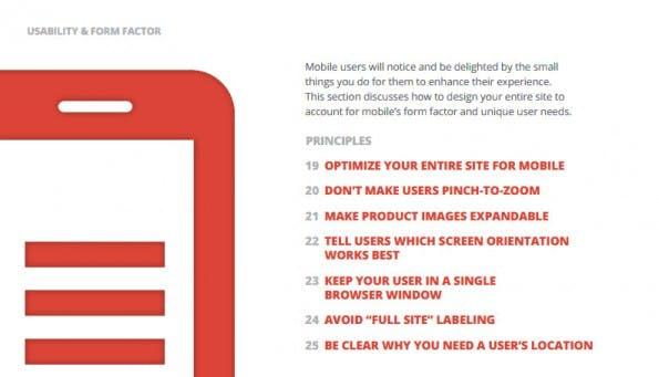 Google: Ein Whitepaper gibt euch 25 Regeln für bessere Mobile-Sites. (Screenshot: Google)