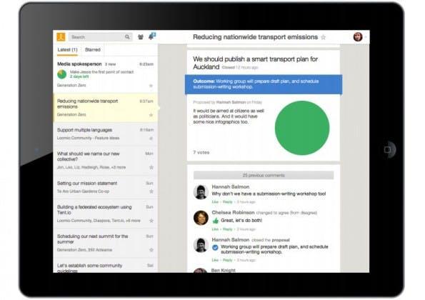 Loomio: das Open-Source-Tool soll bei der Entscheidungsfindung helfen. (Screenshot: Loomio)