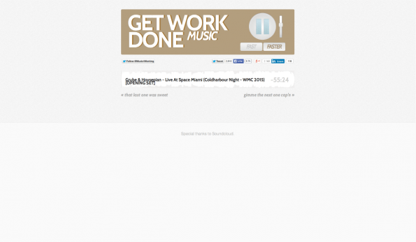 Einfach und effektiv: Get Work Done Music verspricht technolastige Songs, die für mehr Produktivität sorgen. (Screenshot: t3n)