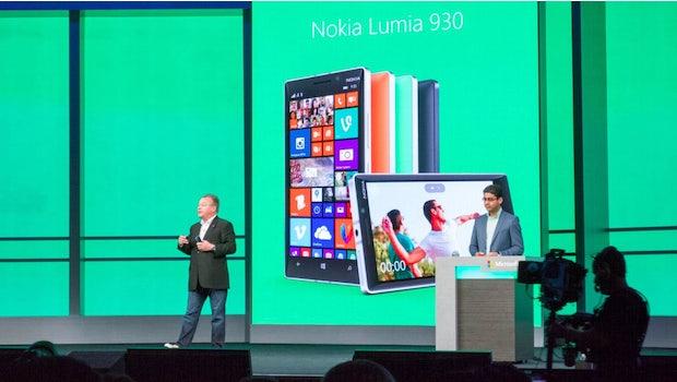 Nokias CEO Stephen Elop bei der Vorstellung des Nokia Lumia 930 auf der //build/-Konferenz. (Foto: Moritz Stückler)