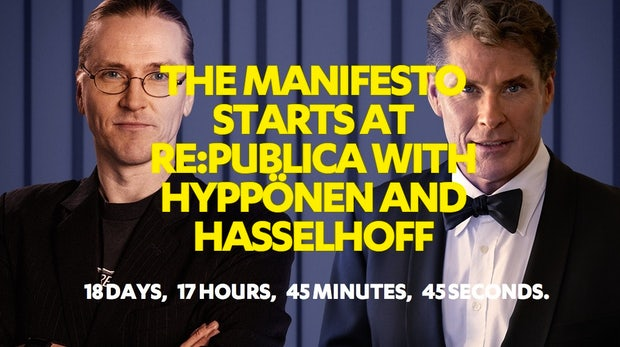 Roter Teppich auf der re:publica 2014: David Hasselhoff und Mikko Hyppönen kommen nach Berlin