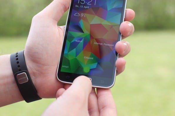 Zukunft à la Mastercard: Erst der Fingerabdruck, dann das Bezahlen im Netz. (Foto: Johannes Schuba)