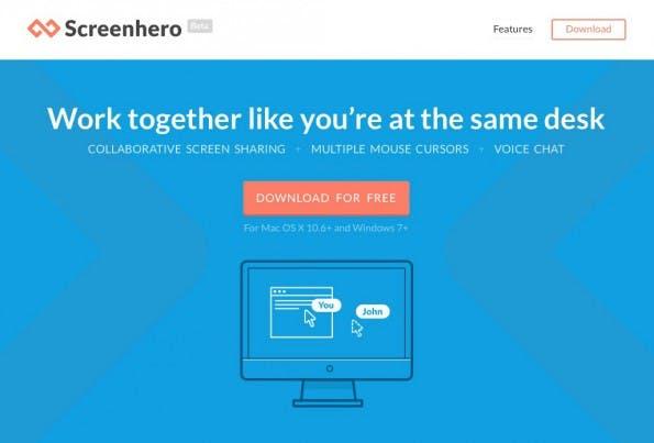 Screenhero: Zusammenarbeit im Team, wie an einem Schreibtisch. (Screenshot: Screenhero)