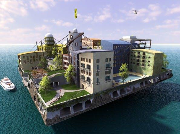 Coden auf offener See. Sehen so die Coworking Spaces der Zukunft aus? (Foto: seasteading.org)
