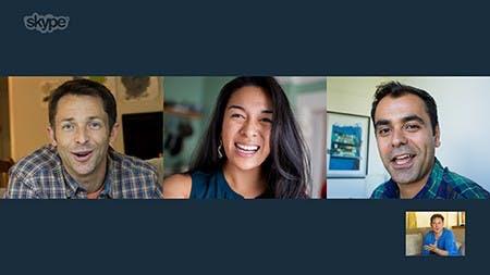 Ein Videanruf über Skype. (Quelle: Skype)
