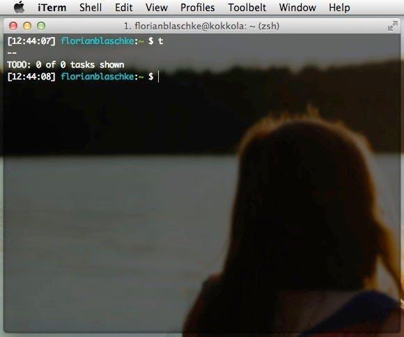 """Ein simples """"t"""" in der Konsole spuckt euch eure Tasks aus. (Screenshot: t3n)"""