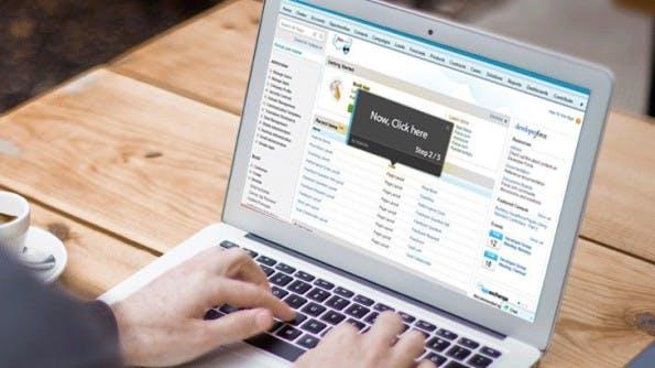 WalkMe führt den Anwender auch durch komplexe Web-Anwendungen. (Foto: WalkMe)