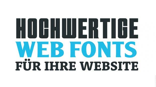 Webfonts von Google Fonts bis Typekit: 6 Dienste im Vergleich