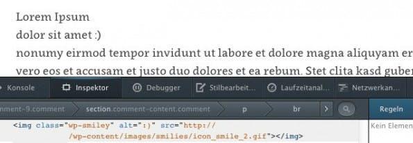 Wie ihr seht, ist der neue Dateipfad aktiv – Jetzt fehlen nur noch neue Smileys! (Screenshot: eigene WordPress-Installation)