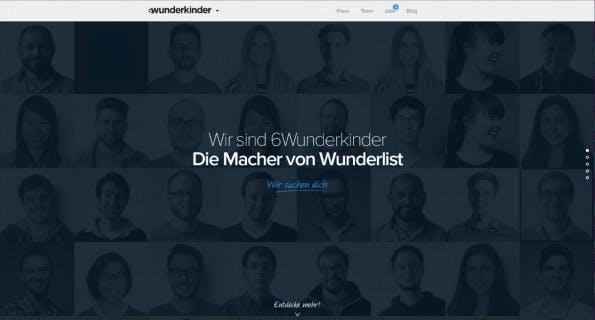 Längst nicht mehr zu sechst: Startup 6Wunderkinder. (Screenshot: 6Wunderkinder)