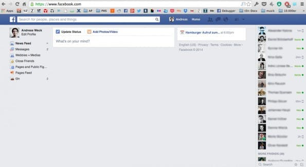 Facebook wie früher! So killst du den Facebook-Newsfeed. (Screenshot: Andreas Weck)