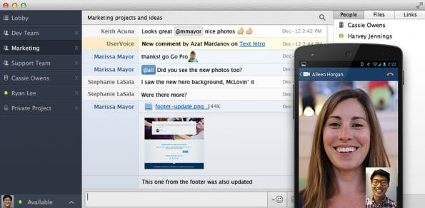"""Basis-Version: """"End-zu-End""""-Verschlüsselung und Gruppen-Chat von HipChat kostenfrei. (Bild: HipChat)"""