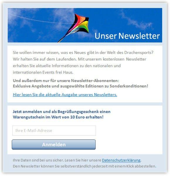 Newsletter-Werbung