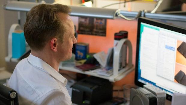 Gründer Thorsten Trotzenberg bei der Arbeit. (Foto: Moritz Stückler)