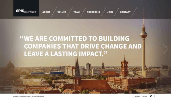Nur etwas über ein Jahr nach seinem Start muss der Startup-Inkubator Epic Companies radikal umbauen. (Screenshot: t3n)