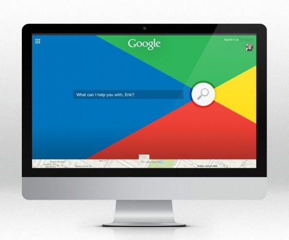 Einer der insgesamt acht Designvorschläge für Googles Suchmaschine: Simpel, bunt und trotzdem dezent. (Bild: The Letter Society)