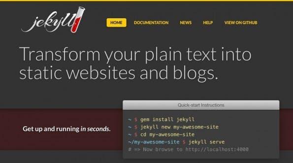 Jekyll ist in Version 2.0 erschienen. (Screenshot: Jekyll)