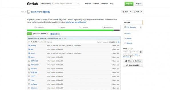 LibreS3: Den Quellcode der freien S3-Implementation findet ihr auf dem Git-Server von Skylable oder auf GitHub. (Screenshot: GitHub)