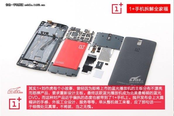 OnePlus One: Der chinesische Flaggschiff-Killer im Teardown. (Bild: IT168)