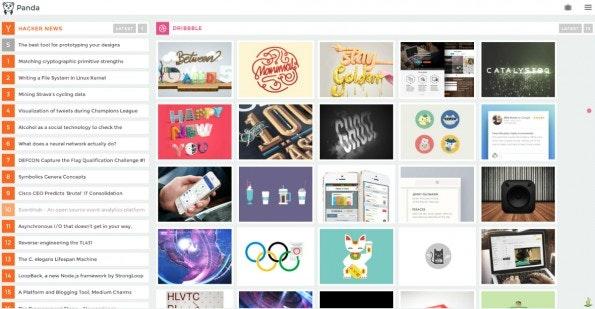 Panda bereitet die wichtigsten Designer- und Entwickler Quellen gebündelt und in ansprechender Optik auf. (Screenshot: Panda)