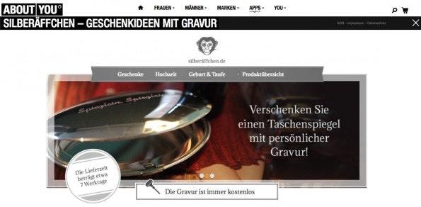 Die silberäffchen.de-App bei AboutYou. (Bild: AboutYou)